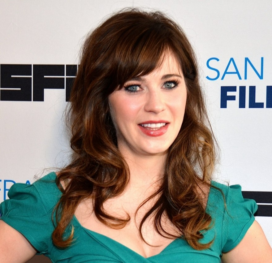 Fashion week Deschanel Zooey curly hair pictures for woman