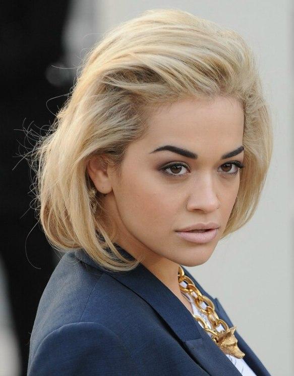 Rita Ora Faux Asymmetrical Bob