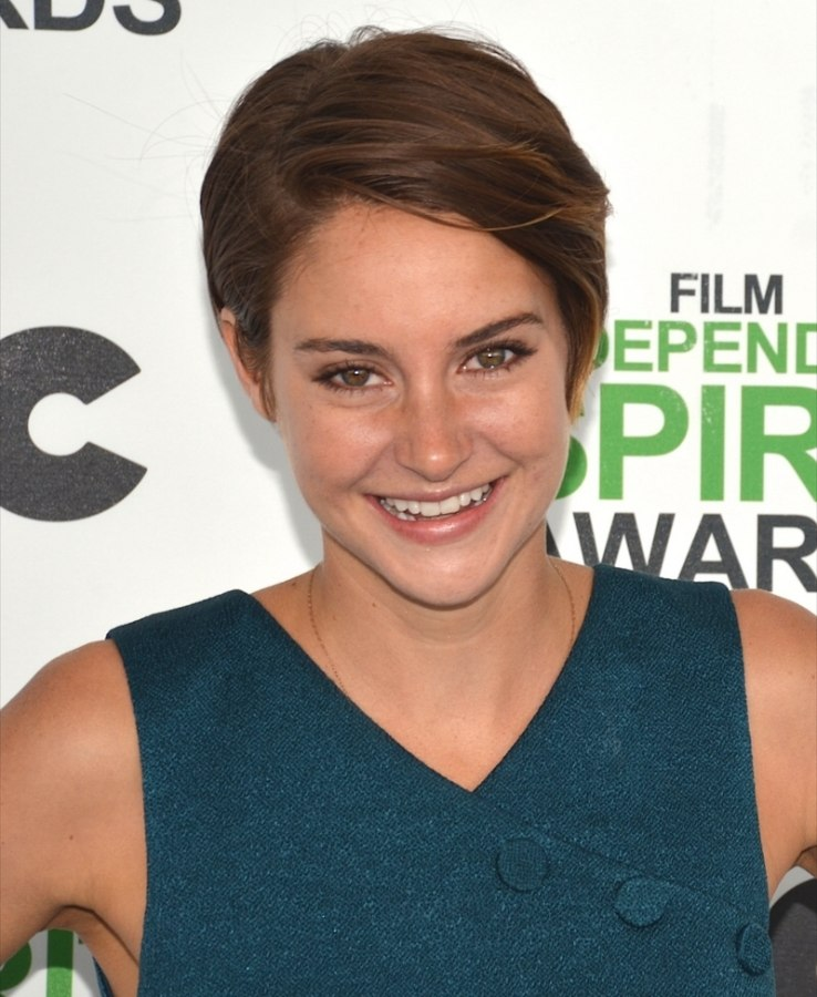 Shailene Woodley With Her Hair In A Low Maintenance And Wearable Pixie