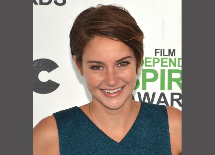 Shailene Woodley with short hair