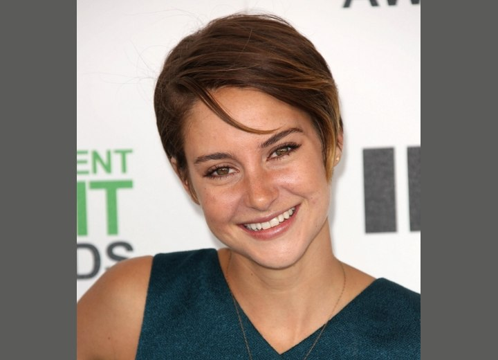 Shailene Woodley's low maintenance pixie cut