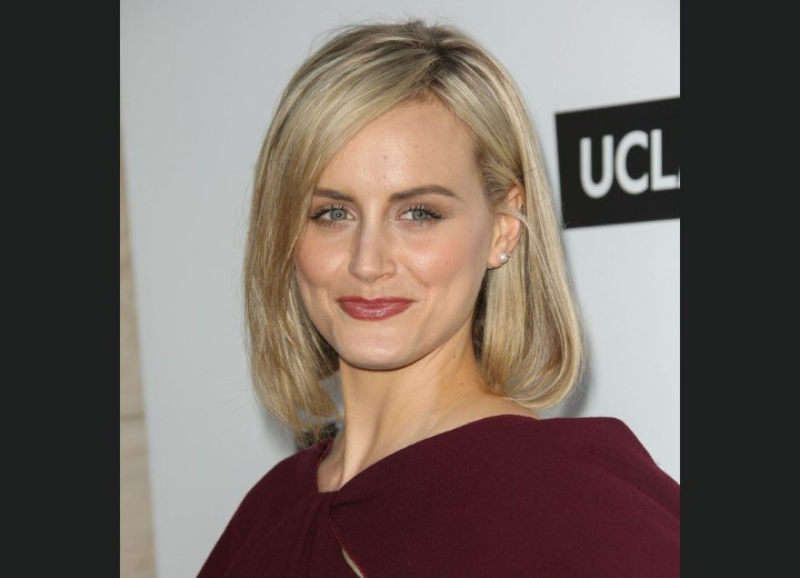 Taylor Schilling - Medium length hair with a side part
