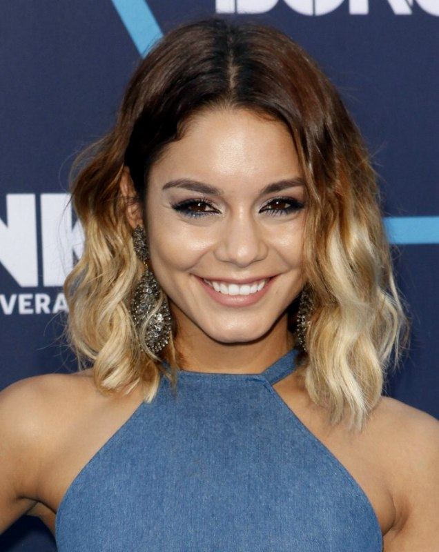 Vanessa Hudgens Brown To Blonde Ombre Look Created With A Hair Piece