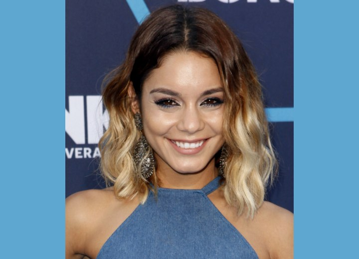 Vanessa Hudgens hair with ombre coloring