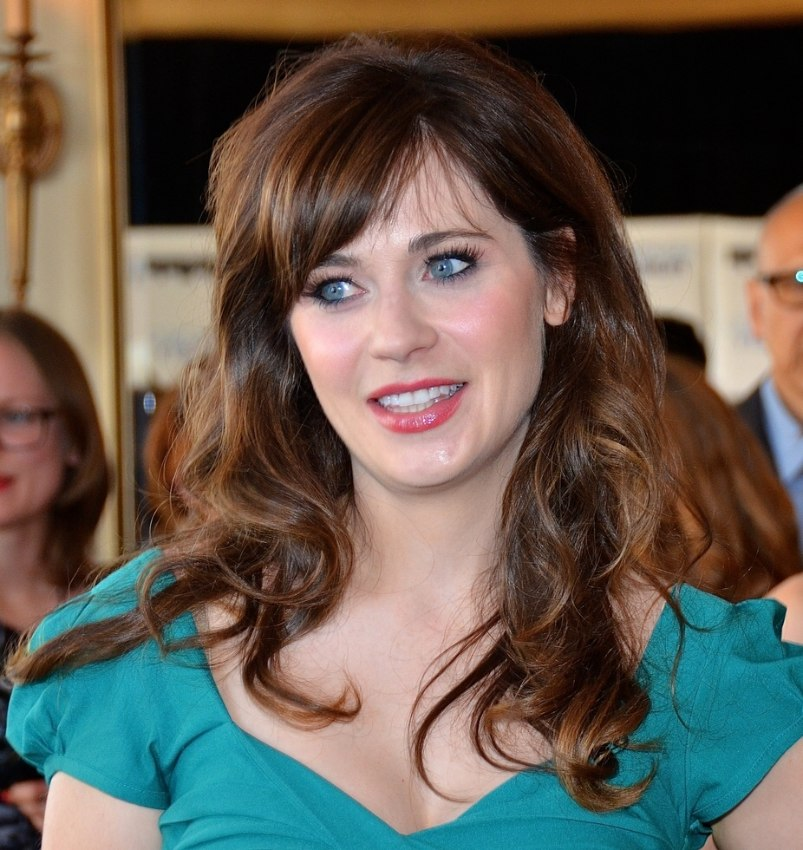 Zooey Deschanel Hair Layers Zooey Deschanel's long...