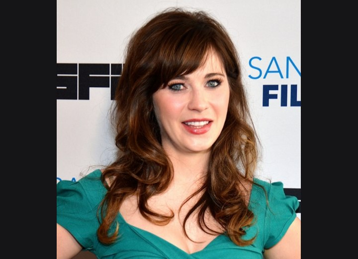 Zooey Deschanel - Long hair with a retro feel