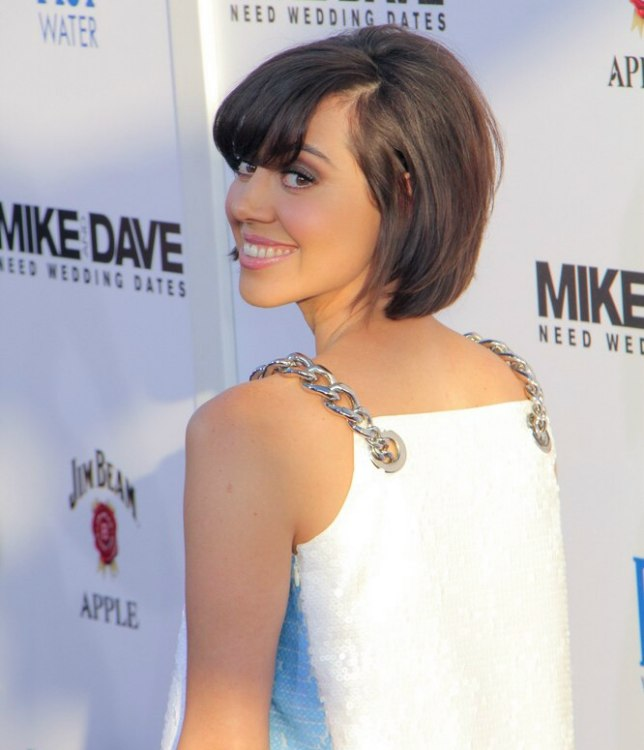 Aubrey Plaza S Cute And Short Brunette Bob Hairstyle
