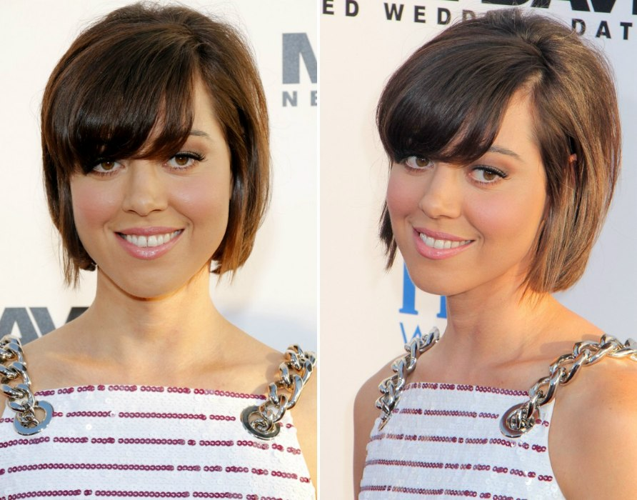Pictures Of Hair Styles: Aubrey Plaza's Cute And Short Brunette Bob Hairstyle