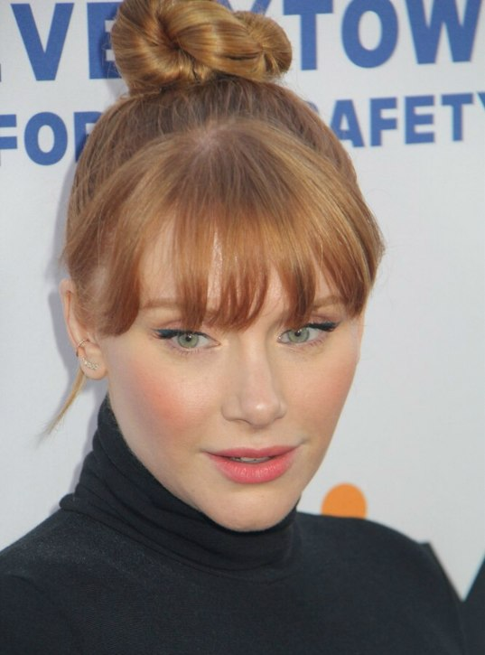 Bryce Dallas Howard with bangs to draw attention to her eyes