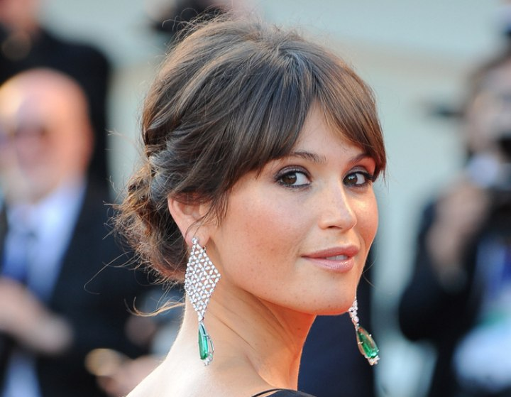 Gemma Arterton S Updo With Height In The Crown To Show Off
