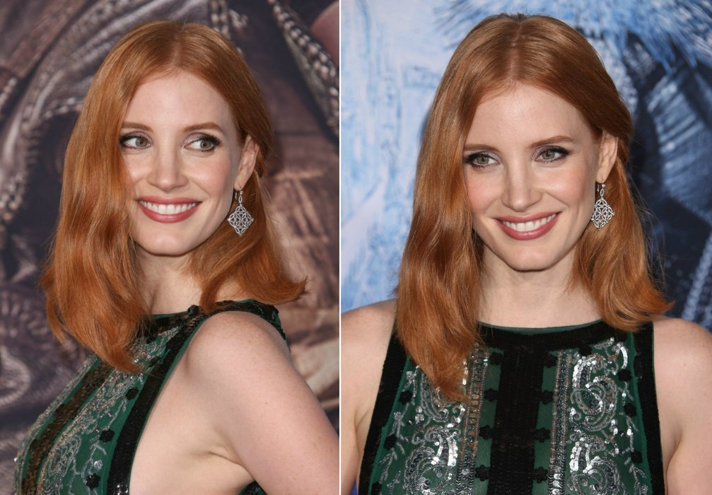 Jessica Chastain S Shoulder Length Bob Hairstyle