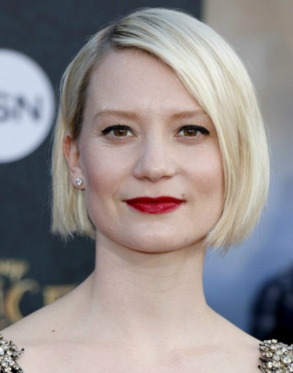 Pictures Of Hair Styles: Mia Wasikowska's Short Bob With A Short Nape And Angled Sides
