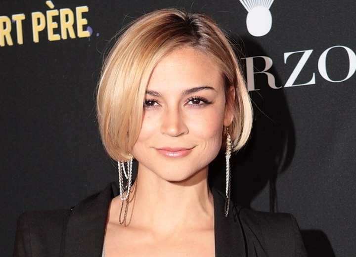Samaire Armstrong S Short Rounded Bob With The Part On The