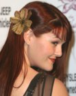Sara Rue with long sleek hair