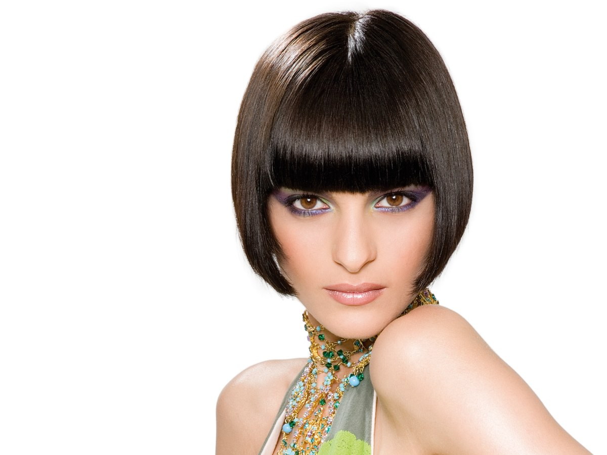 A Line Bob Haircut With Side Bangs | www.imgkid.com - The Image Kid Has It!