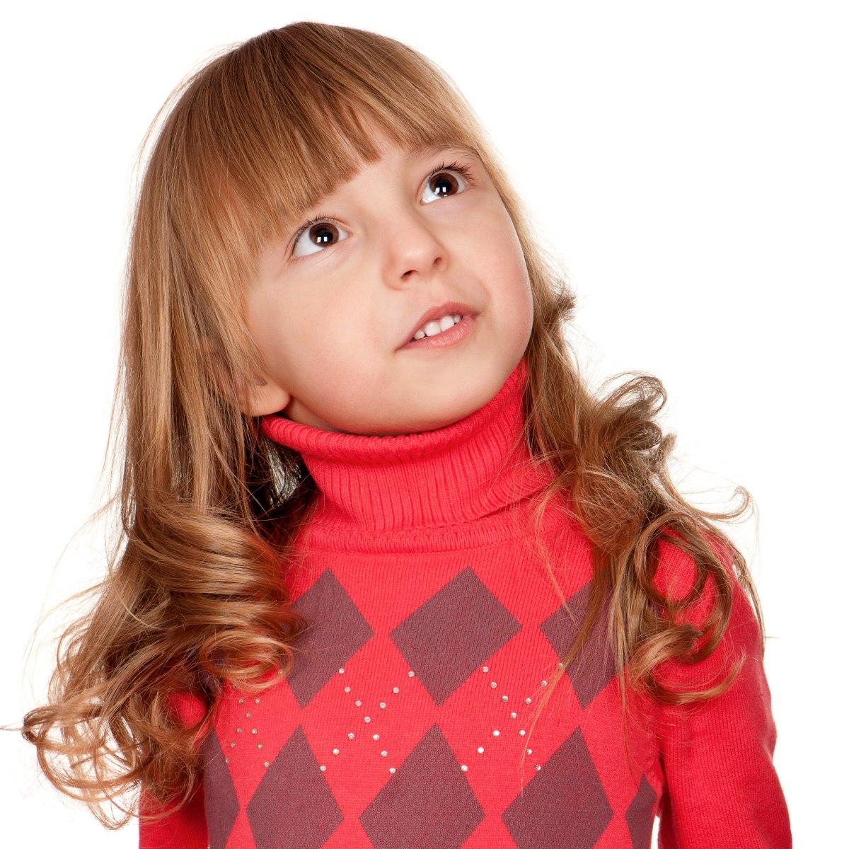 langes haar mit großen locken für kleine mädchen