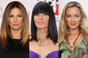Long and straight celebrity hairstyles