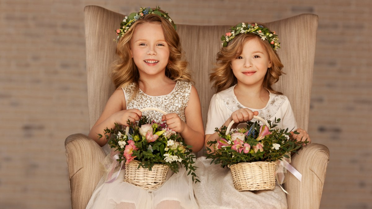How To Do Long Hair For A Wedding Flower Girl Who Is Wearing A Halo