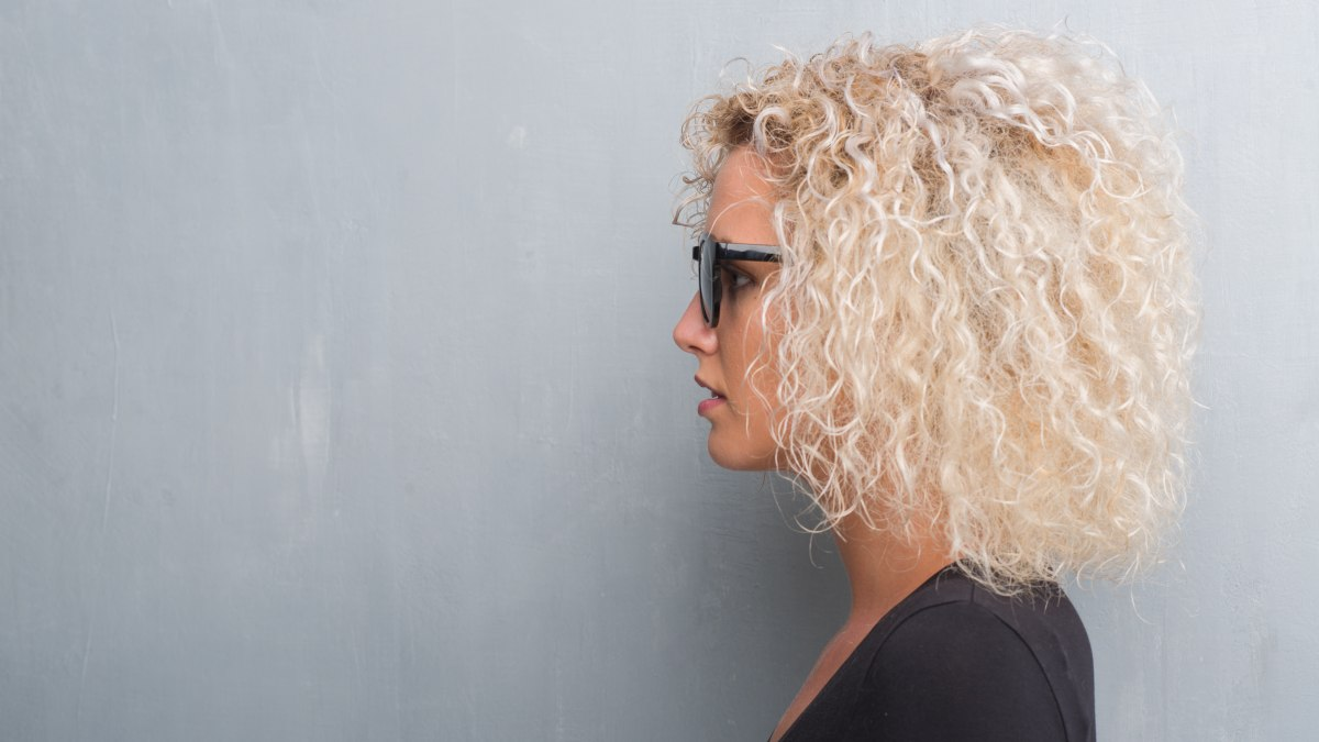 Have Blonde Hair Bleached And Have A Curly Perm On The