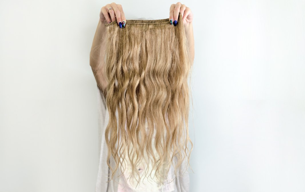 How to store hair extensions blonde woman with hair extensions or a wig pmusecretfo Choice Image