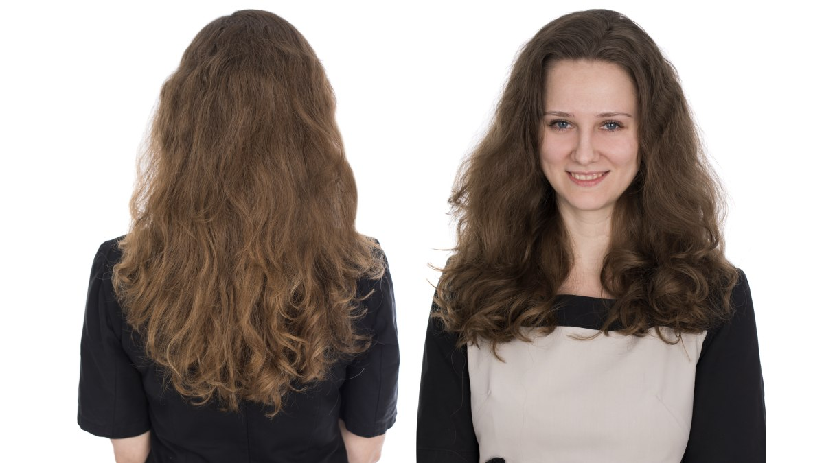 Perm And Scrunch And Go Style For Bra Strap Length Hair
