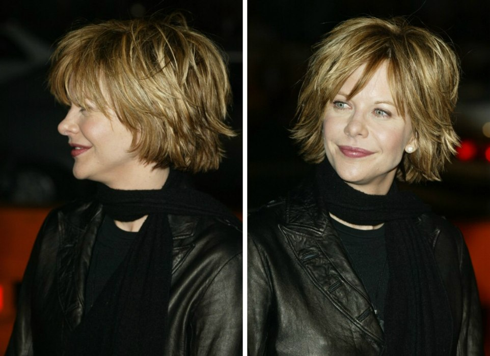 Cutting Techniques For Meg Ryan S Tousled Out Of Bed Look