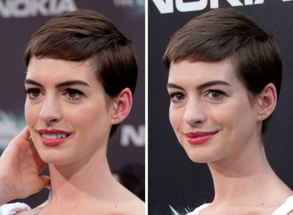 Anne Hathaway S Short Haircut Pixie