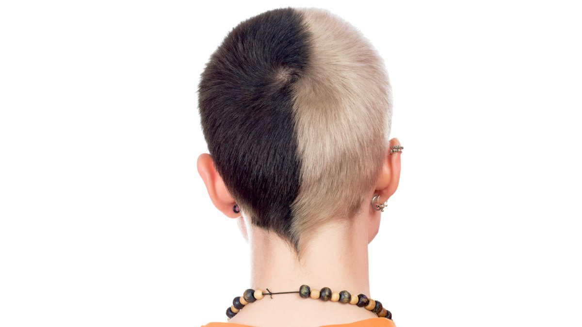 Woman With Half Of Her Haired