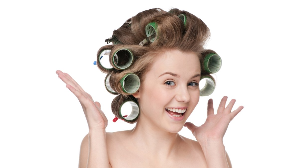 Using Heated Curlers On Naturally Curly Hair