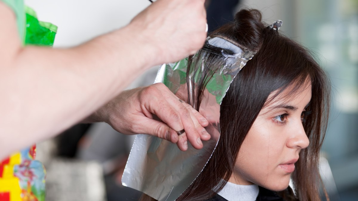 When foils or the foiling technique were invented or first for A salon to dye for