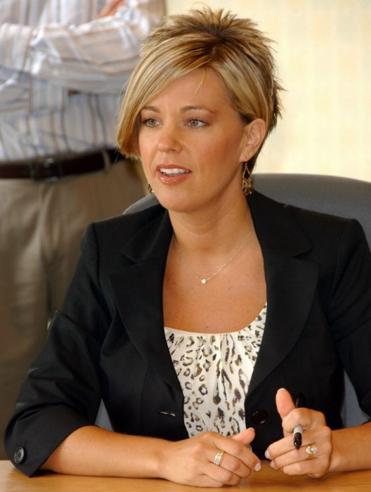 Kate Gosselin S Short Hairstyle A Cross Between A Reverse Mullet And A Bob