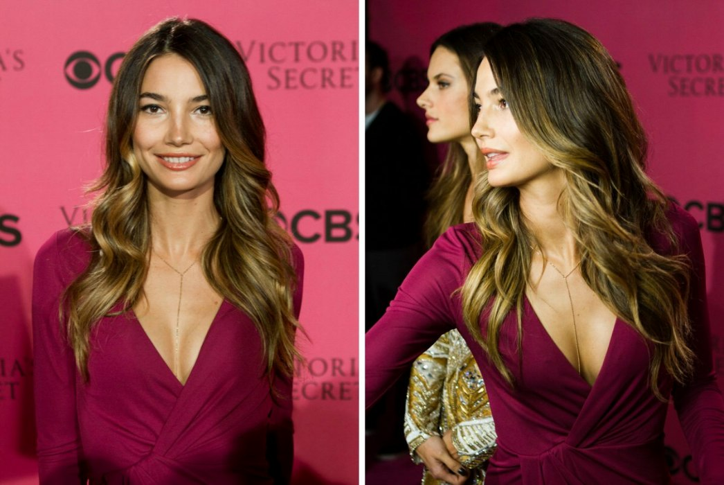 How To Achieve The Lily Aldridge Ombre Hair Color With Dark Roots