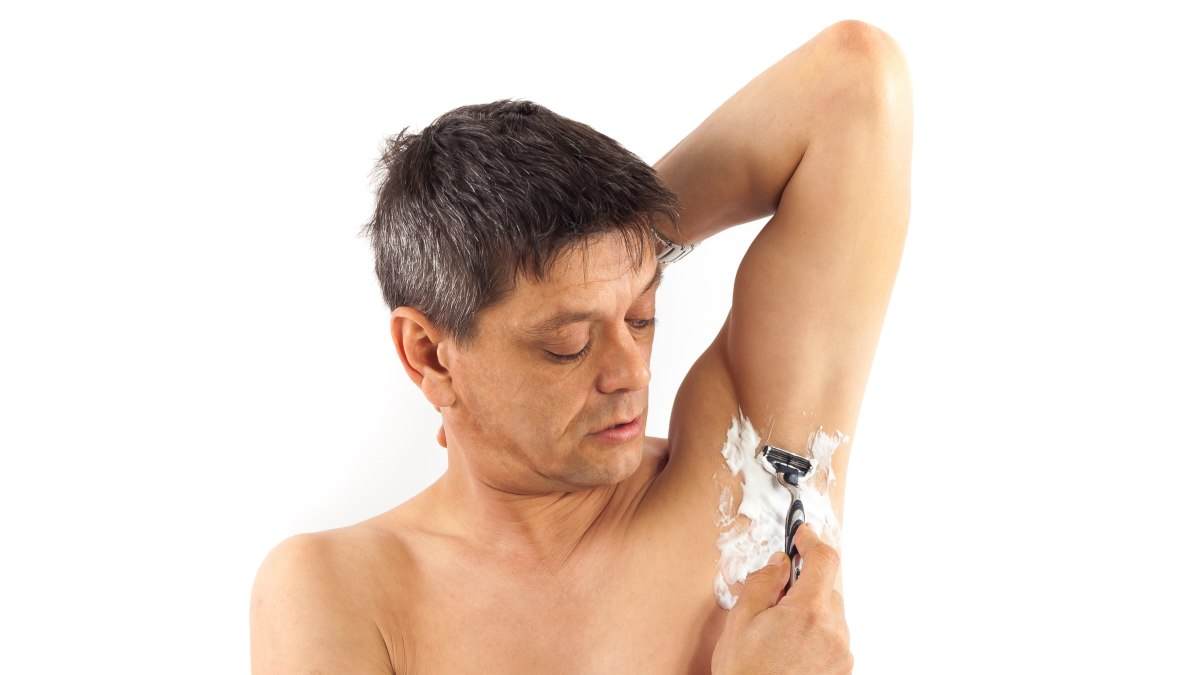 Men shaved armpits