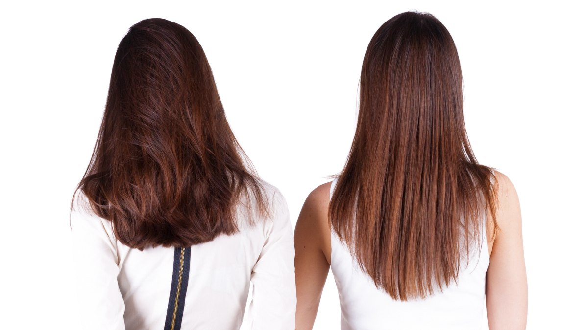 Cut The Back Of Long Hair In A U Shape V Shape Or A Straight Line