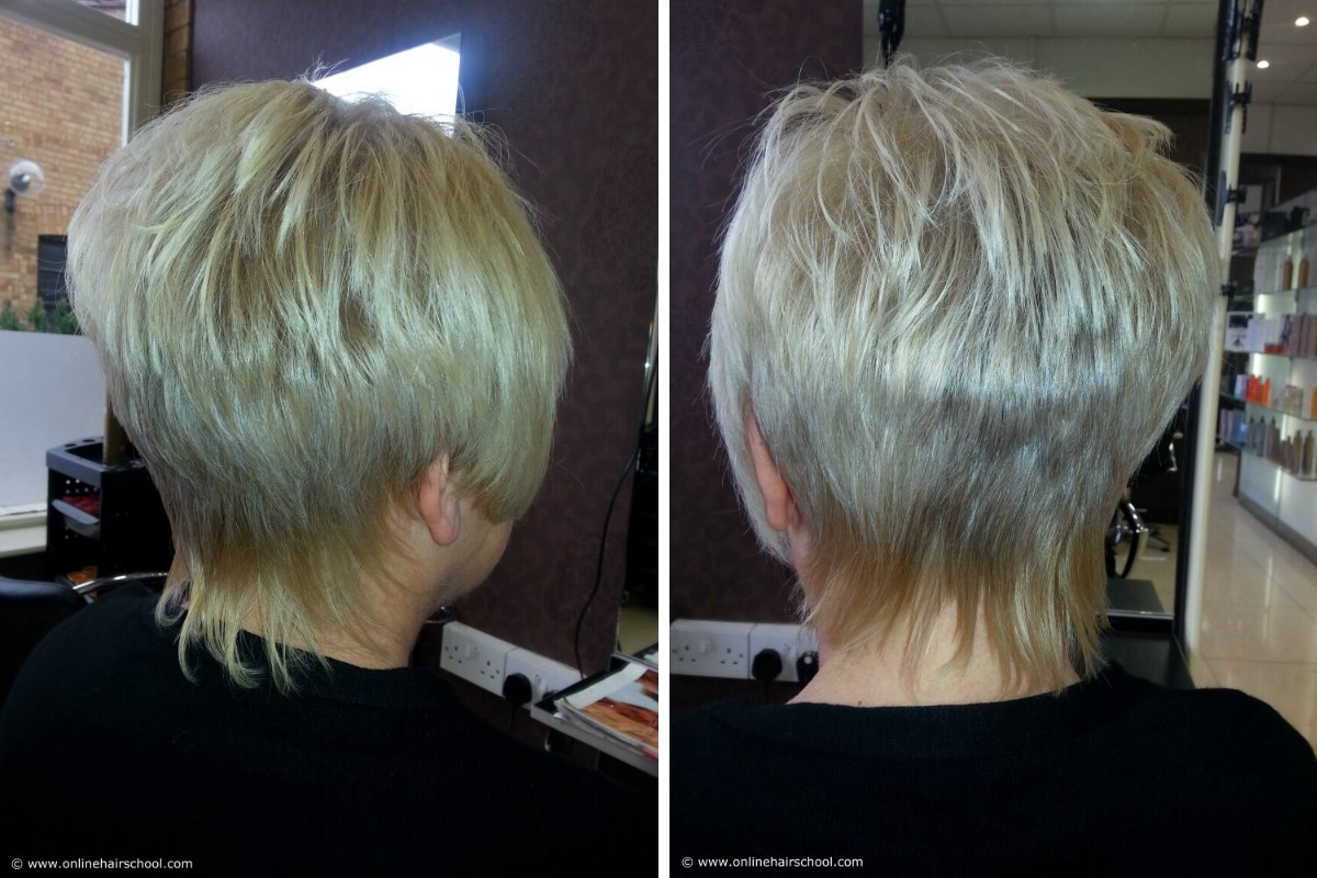 Reverse Graduation Haircutting Technique