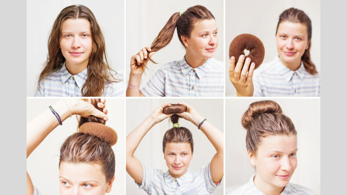 How To Make A Bun With A Foam Insert Or Hair Donut