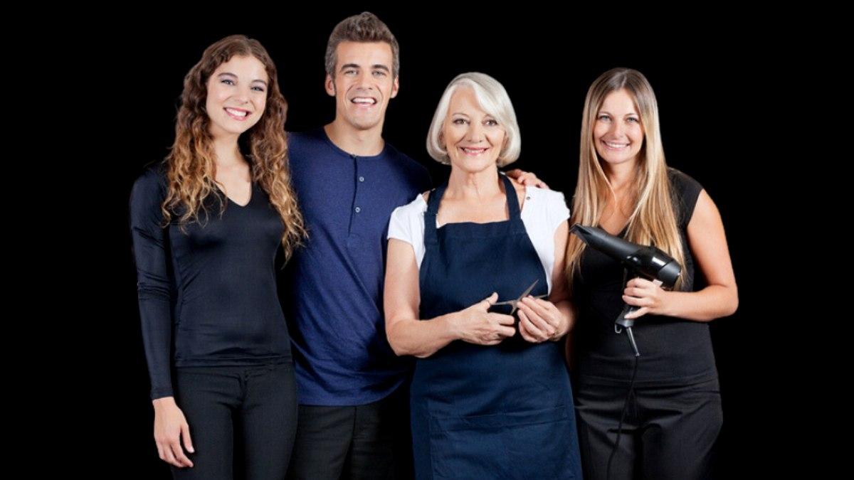 hair salon team including an assistant - Salon Assistant
