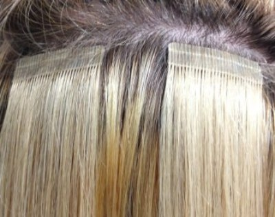 how to put in hair extensions with tape