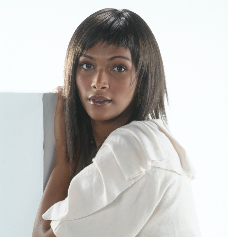 Layered Straight Black Hairstyle With Razor Chopped Ends
