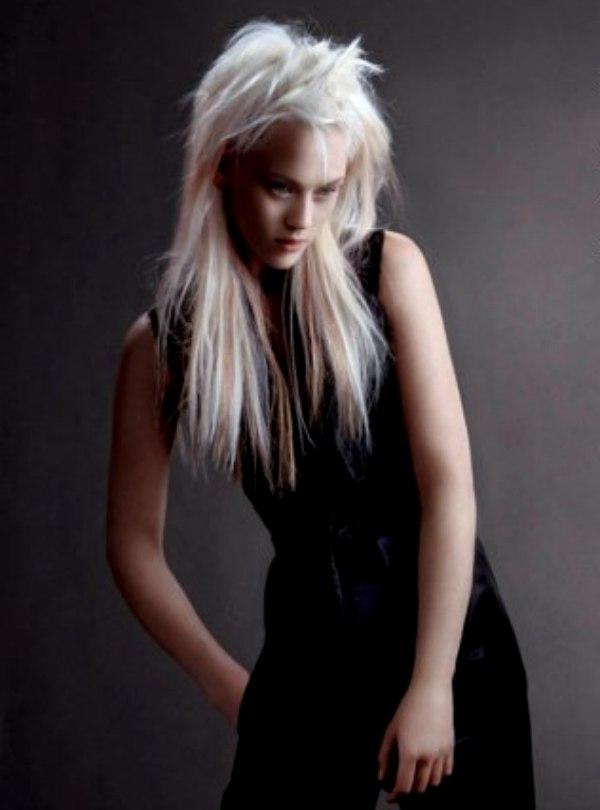long platinum hair