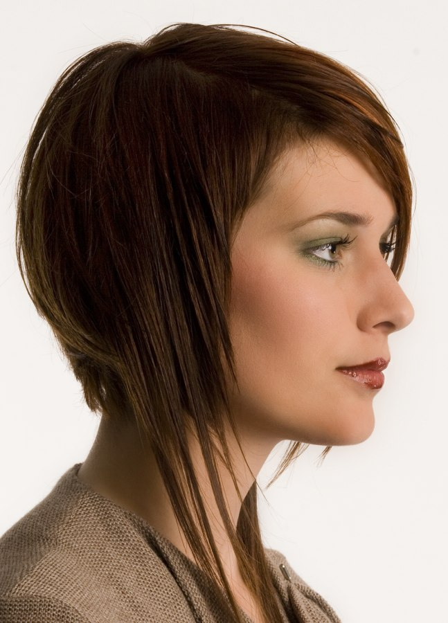 Hairstyle with long textured sides and a shorter back