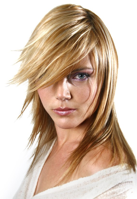 Superb Long Hairstyle With Razored Ends And Hair Coloring With Tri Tones Short Hairstyles For Black Women Fulllsitofus