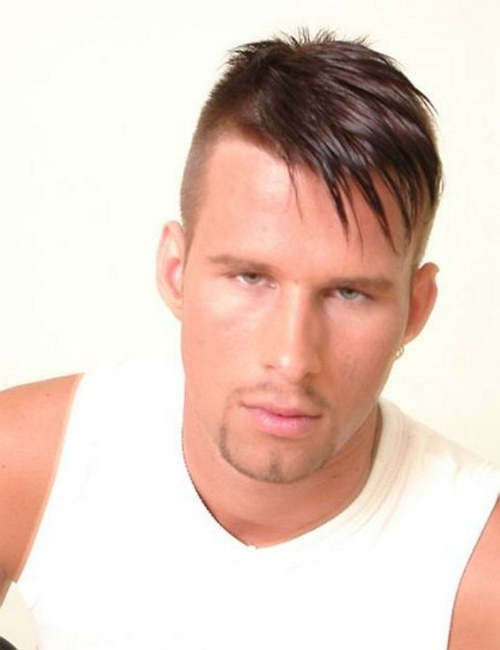 High And Tight Male Haircut With The Hair Clipped Close