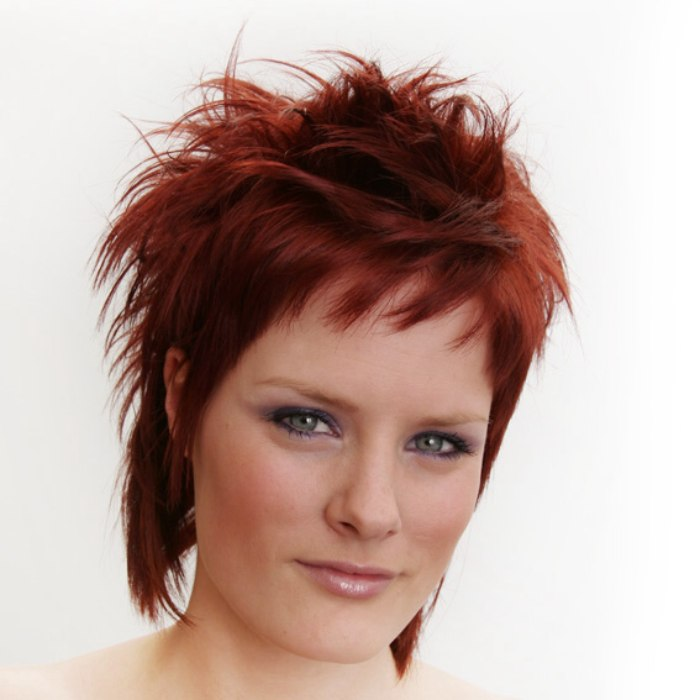 Short Punky Haircut With Irregular Lengths And A Tapered