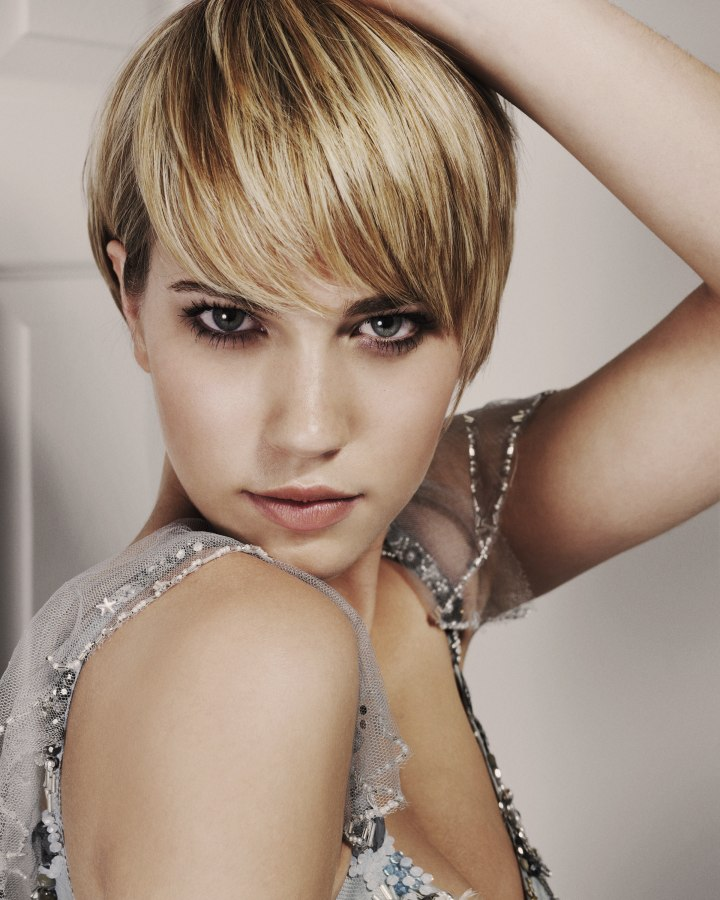 Platinum Blonde Short Natural Hair