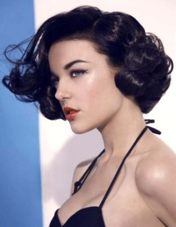 short vintage hairstyle