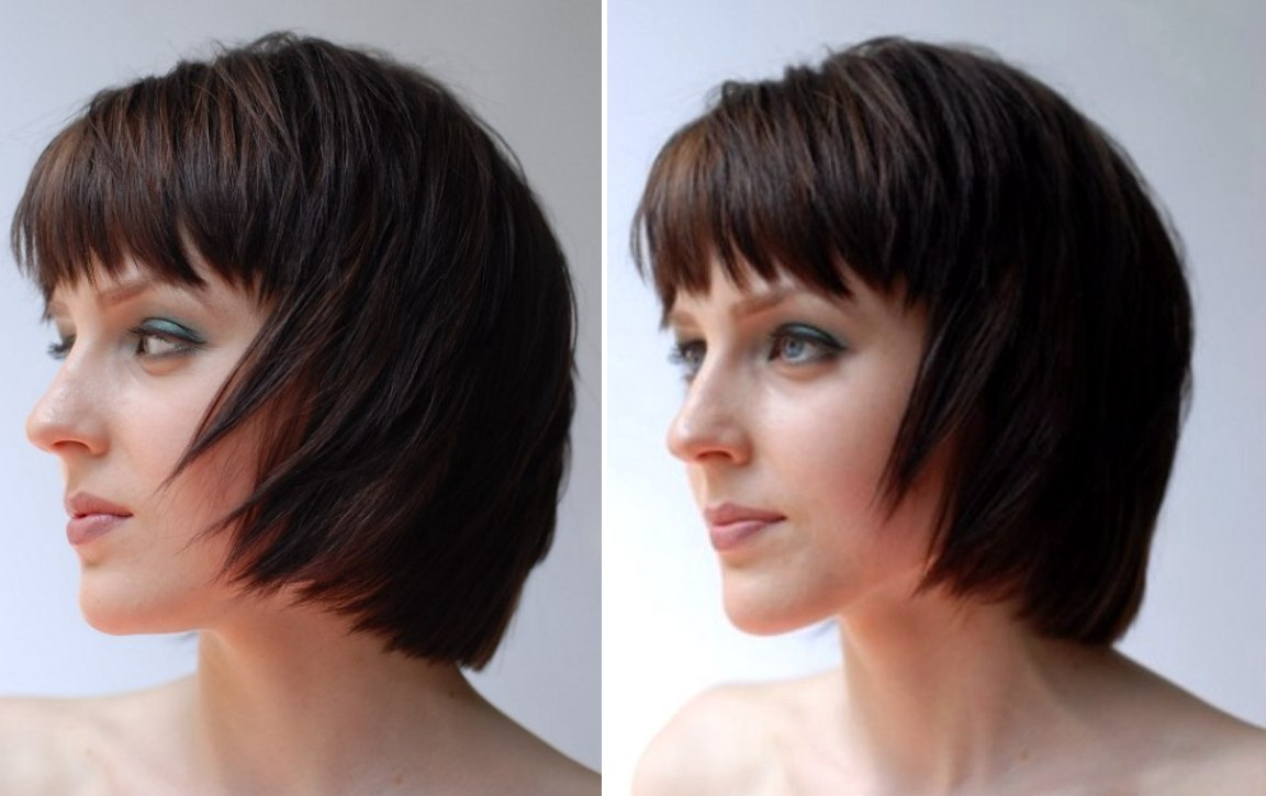 razor cut bob hairstyles. image of a razor cut bob