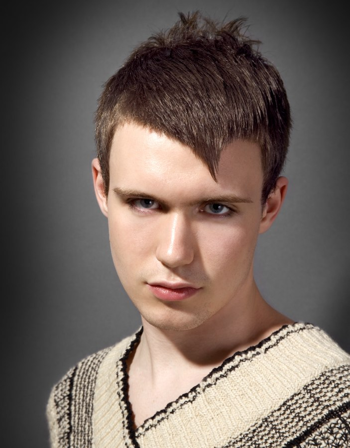 Short Cropped Mens Haircut With Increase In Length In The Top