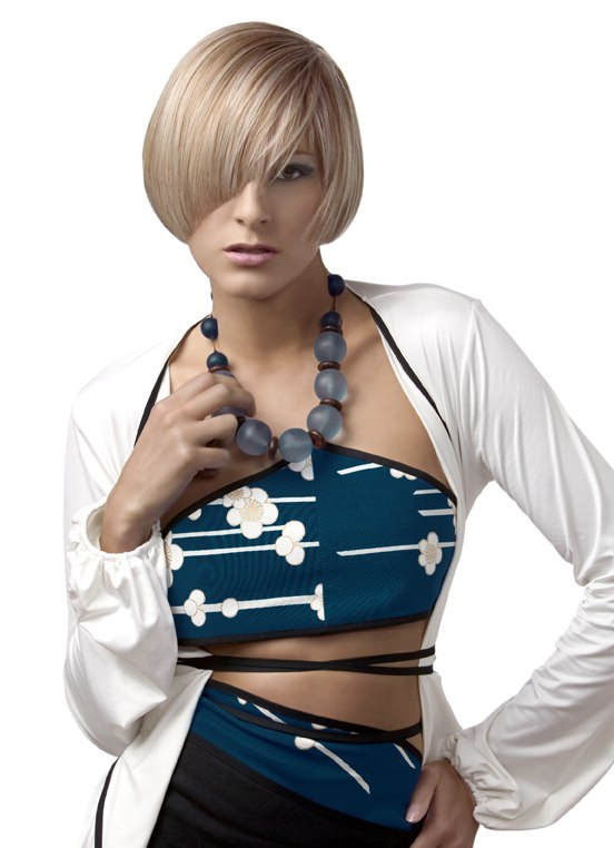 Bob Cut With An Angled Fringe For A Peek A Boo Effect