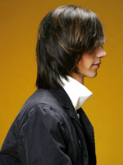 Picture of man with long hairstyle